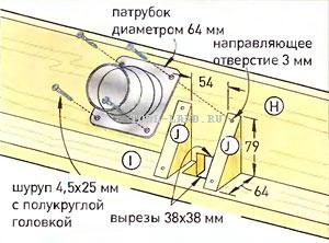 Монтаж патрубка пылеудаления