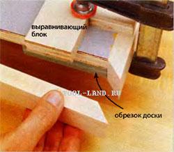 Приклейка кромочных накладок вровень с поверхностью