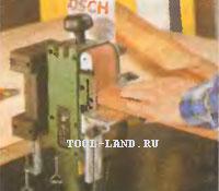 Использование зафиксированной ленточной шлифовальной машины с упором