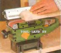 Обработка погонажных изделий на зафиксированной ленточной шлифовальной машине