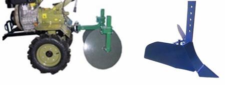 Дисковый и простой окучники для мотоблока