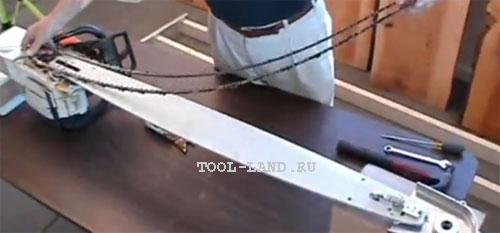 Длинная шина для бревен большого диаметра