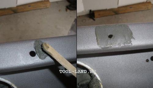 Покрытие поверхности флюсом пред лужением