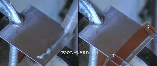 Соединение пайкой листов металла: нанесение паяльной пасты и соединение деталей