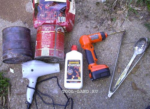 Инструменты и материалы используемые для изготовления плавильной печи своими руками