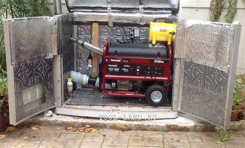 Контейнер для бензогенератора