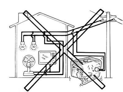 Неправильное подключение электрогенератора