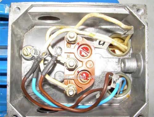 Вывод проводов в клеммную коробку