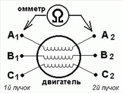 Определение пар проводов относящихся к одной обмотке