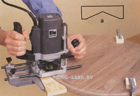 Упор для фрезерования округлой поверхности