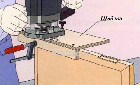 Фрезерование пазов для петель