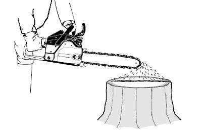 Установка ланцюга на бензопилу