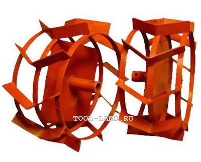Металлические колеса-грунтозацепы