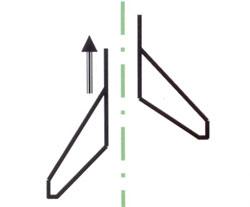 Расположение односторонних лап для прополки