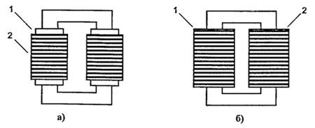 Трансформаторы с обмотками на одном плече и с разнесенными обмотками