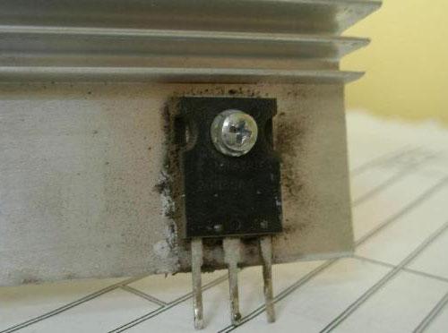 Поврежденный транзистор сварочного инвертора