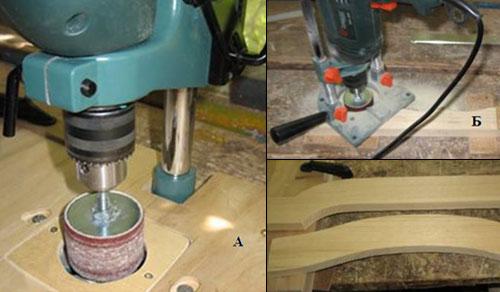 Использование направляющих для дрели при шлифовании