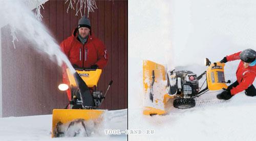 Работа снегоуборщика (снегоотбрасывателя) STIGA