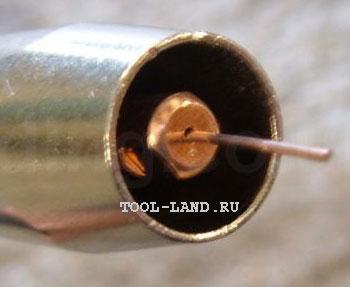 Токосъемник (токопроводящий наконечник) сварочного полуавтомата