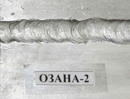 Сварочный шов сделанный электродом ОЗАНА-2