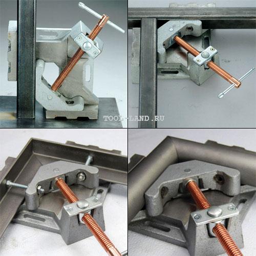 Использование углового зажима Strong Hand Tools