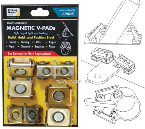 Магнитное приспособление V-Pads для сварки (Strong Hand Tools)