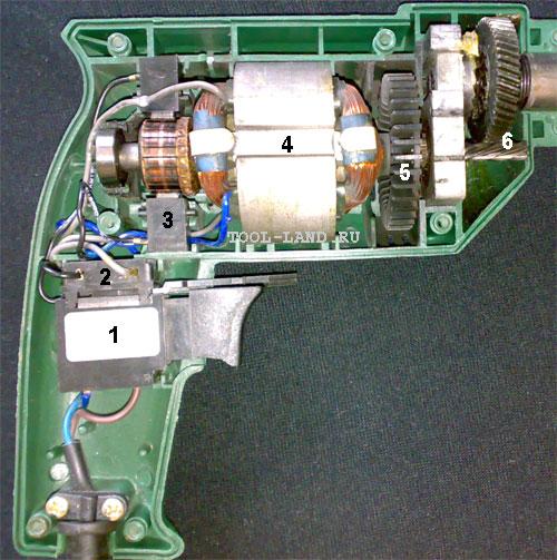 4 - статор двигателя,