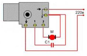 Схема подключения кнопки (регулятора оборотов) дрели