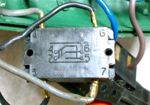 Схема на реверсе электродрели