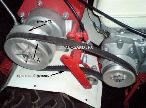 Ременная передача мотоблока GreenField МБ-6.5
