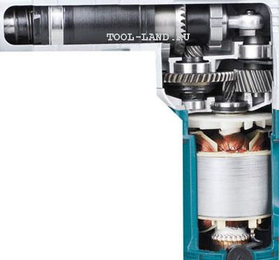 Устройство перфоратора с вертикальным расположением двигателя