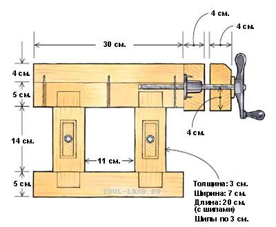 Схема самодельного верстака