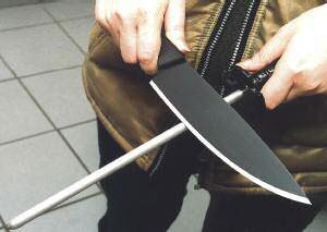 Правка ножа мусатом